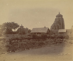 General view from the east of the Lingaraja Temple, with the Sahasralinga Tank in the foreground, Bhubaneshwar